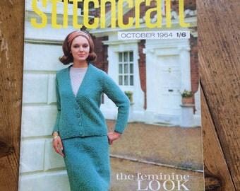 Vintage Stitchcraft Magazine from October 1964 - rare