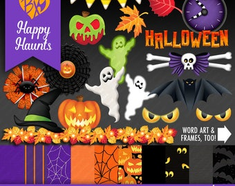 Happy Haunts Minikit (CLIPART & PAPERS)