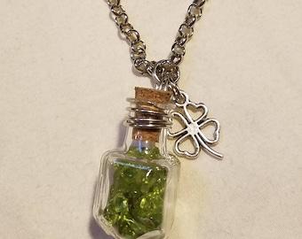 Mini Crystal Bottle Necklace