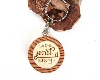 Wood keychain custom, wooden keychain for her, customized keychain for him, keychain engraved, engraved sign, keychain car