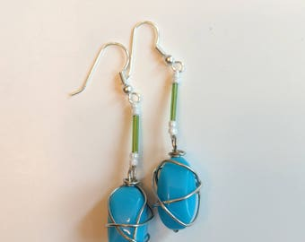 Wire Wrapped Earring