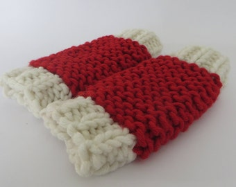 Hand knitted baby Christmas gift, baby Christmas knitwear, baby leg warmers festive, baby leg warmers, cute baby Christmas knitwear