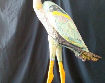 statue, art, birds