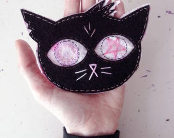 NIGHT in THE WOODS inspired : mae patch. handmade ooak fanart.