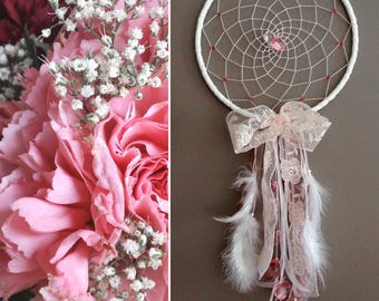 Dream catcher romantic pink lace