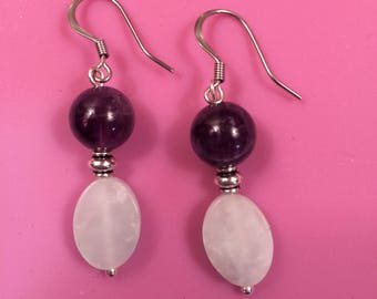 Amethyst and Amazonite Earrings
