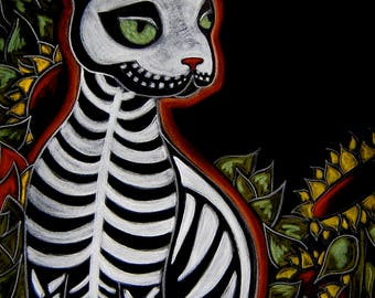 Day of the Dead Dias de los Muertos Cat Art Dog Art Day of the Dead Animals Animal Skeletons Pet Memorial