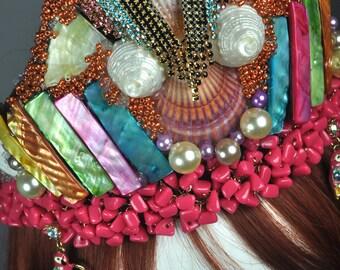 Bird of Paradise, Crown/Tiara festival carnival wedding bridal fantasy hair accessories headband
