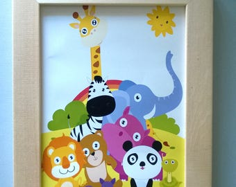 Decoration for children's room: Animals of the jungles