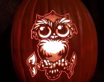 Owl, pumpkin, Halloween