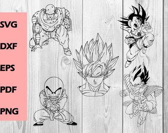 dragon ball z SVG dragon ball z DXF PNG cutting file, Printable, T-shirt Design, Scrapbooking Clipart