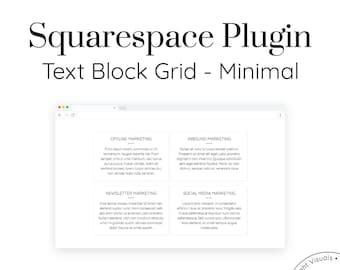 Text Block Grid - Minimal | Squarespace Plugins, Custom Blocks, Addons, Custom Code