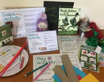 Learn Storytelling in a Box - Skill focus Narrative Development - Kids Book & Craft Box - Reading in a Box