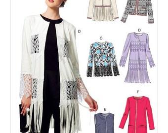 Vest and jacket sewing pattern Vogue V9247