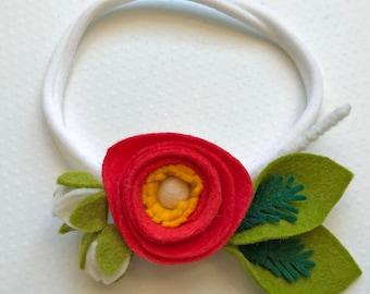 Ranunculus headband
