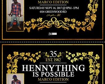 Hennessy Birthday Invitations