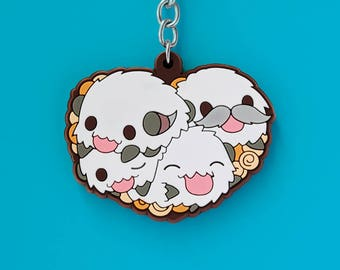 Poro Keychain - League of Legends Inspired