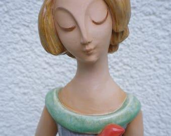 Ceramic sculpture, Garden sculpture, ceramic figure Kira