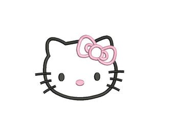 Hello Kitty Applique Design - 4 sizes instant download