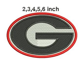 Georgia Bulldogs Embroidery Design - 2,3,4,5,6 inch size instant download