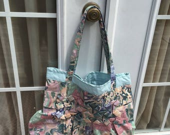 Blue Impressionist Carry All Tote