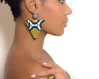 Kate Abassi wax (Ankara) earrings