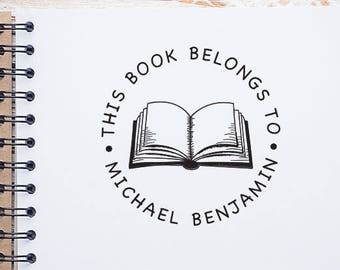 Custom This Book Belongs To Stamp,  Ex libris Stamp, Custom Library Stamp, Personalized Book Stamp, From The Library Of Stamp