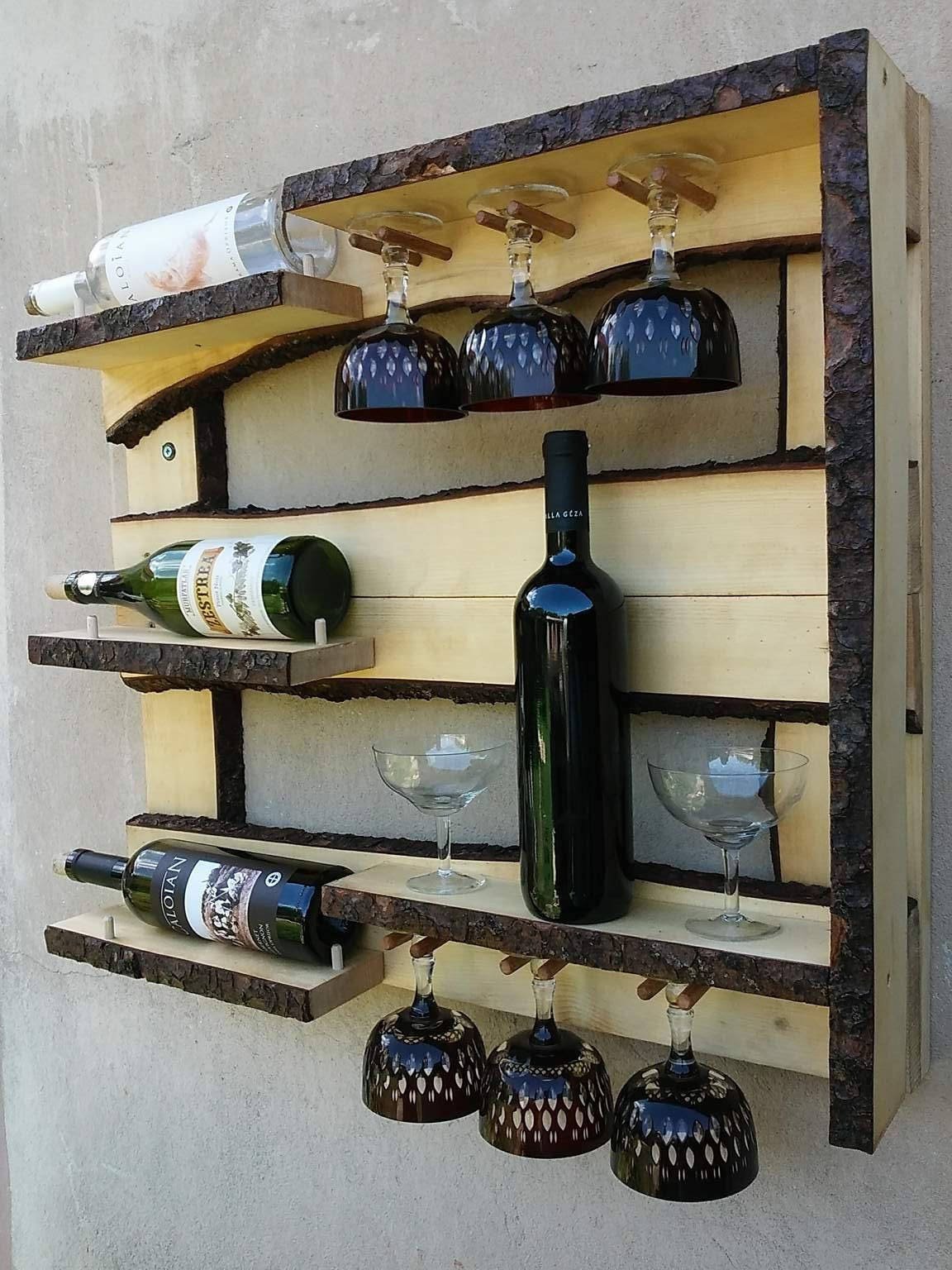 Rustic Wine Rack Wall Cabinet Wine Cabinet Liquor Cabinet Liquor