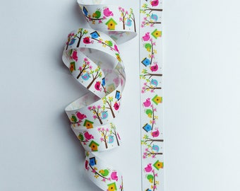Ribbon birds & trees * 22 mm * 0.50 m