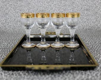 Vintage Dessert Liquor Glasses