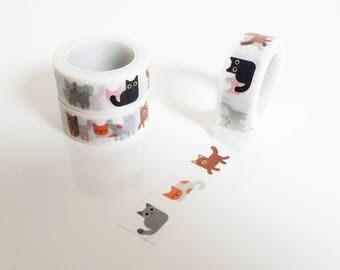 Cute Cat Kitties Washi Tape Masking Tape Scrapbooking Planner Animal Stickers Japanese Washi Tapes adhesive