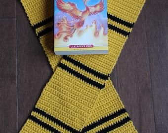 Hufflepuff Crochet Scarf
