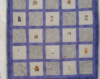 Star Wars Embroidered Quilt