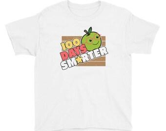 My Kindergarten Kids Are 100 Days of School Smarter Youth Short Sleeve T-Shirt