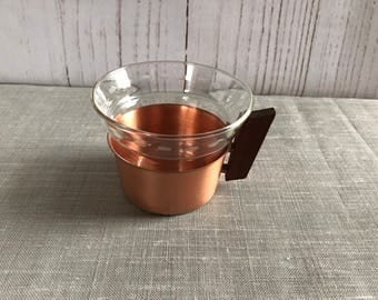 Tea glass in Rosé gold, copper