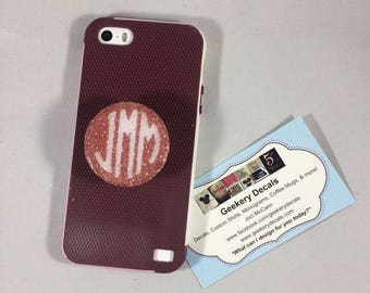 Monogrammed and Glitter Dipped Authentic Pop Socket Phone Grips