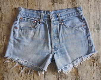 90s Levis 501 Reworked Denim Shorts