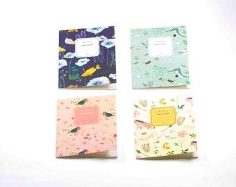 Set of 4 mini notebooks. agenda, journal