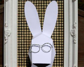 Cadre trophée lapin