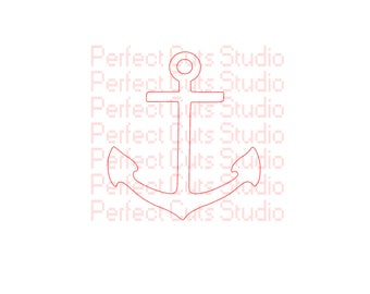 Anchor SVG File and Studio 3 File Anchor Cutouts Stencil Decal Decals for Cricut Silhouette Religious SVGs Cutouts Downloads Cross
