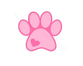 Pet Paw Love SVG & Studio 3 Cut File for Cricut Silhouette Brother Cat Dog Animal SVGs Files Cutouts Rescue Cutout Lover I Love My Heart