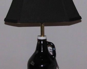 Beer growler lamp