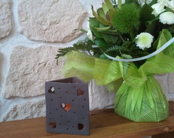 Brown terracotta tealight