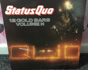 Status Quo '12 Gold Bars Volume 1 + 2' on vinyl
