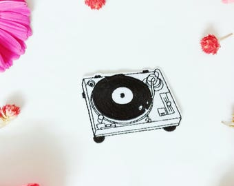 DJ player patch,music player patch,iron on patch/sew on patch/embroidered patch/patch for jacket/applique
