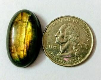 27.15 x 16 mm,Ovel Shape Labradorite Cobochon/Golden Flash/wire wrap stone/Super Shiny/Pendant Cabochon/Semi Precious Gemstone/labradorite