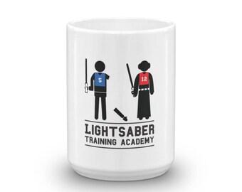 Light Saber Training Academy, Star Wars Coffee Mug, Star Wars Ceramic Mug, Star Wars Coffee Cup, Girl Power, Princess cup
