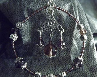 Flowers Zen and Buddha earrings