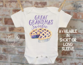 Great Grandma's Sweetie Pie Onesie®, Food Onesie, Grandma Onesie, Cute Baby Bodysuit, Cute Onesie, Boho Baby Onesie, Funny Onesie - 348G