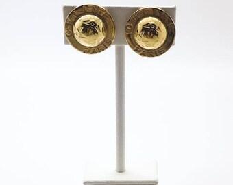 1990s CELINE Vintage iconic Planispheres clip on earrings
